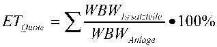 Formel zur Ermittlung der Ersatzteillagerquote