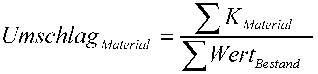 Formel zur Ermittlung des Ersatzteilumschlags