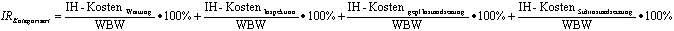 Formel kategorisierte Instandhaltungsrate
